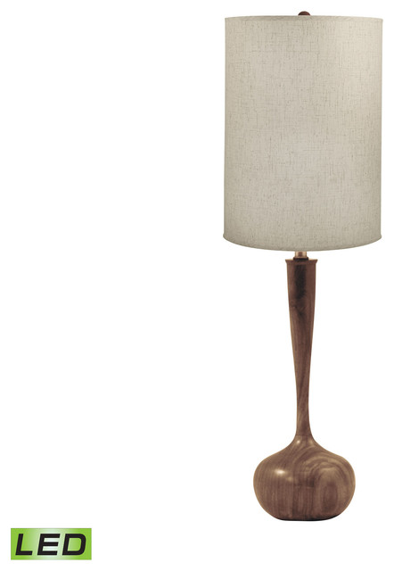 Lamp works wooden tulip led table lamp transitional table lamps
