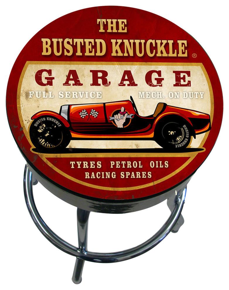 busted knuckle garage repair /& despair under roof Bar Stool chair shop bench car