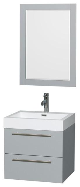 Amare Dove Gray Vanity 24 Quot Mirror Contemporary