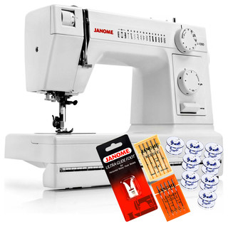 Janome HD1000 Heavy Duty Sewing Machine + 4-Piece VIP Package - Contemporary - Sewing Machines ...