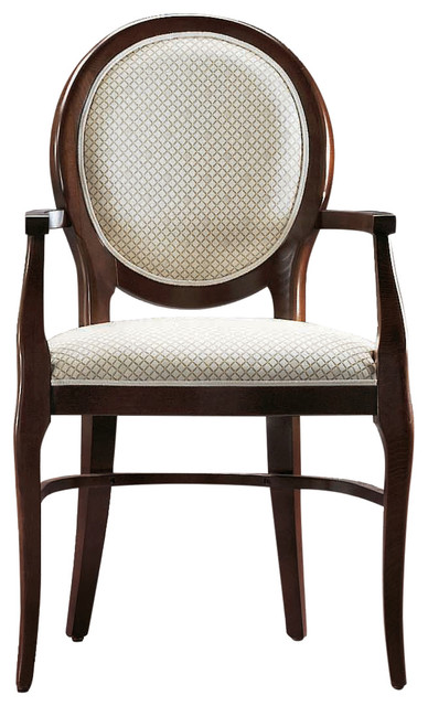 Wenge Stain Classic Dining Chair, With Armrests