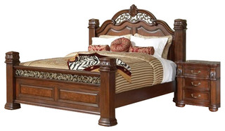 Coaster DuBarry Bed in Rich Brown Finish-California King Size - Traditional - Beds