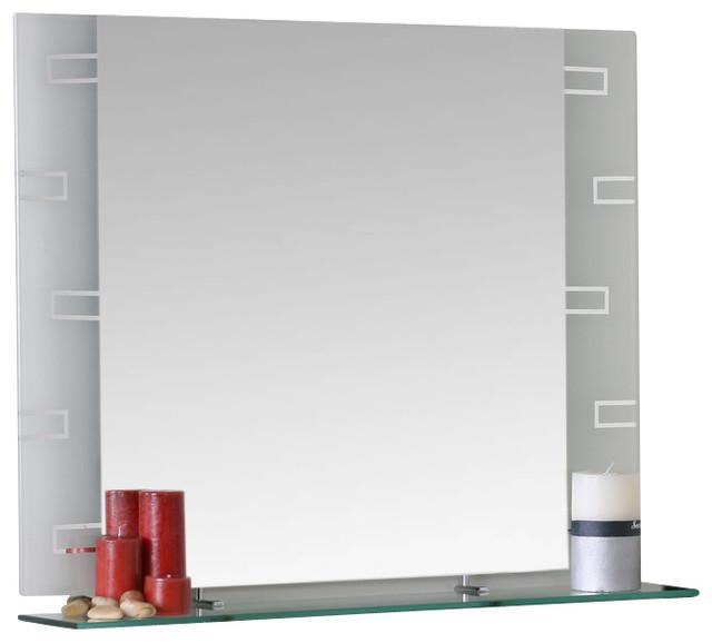 Decor wonderland frameless rectangle wall mirror for Frameless rectangular bathroom mirror