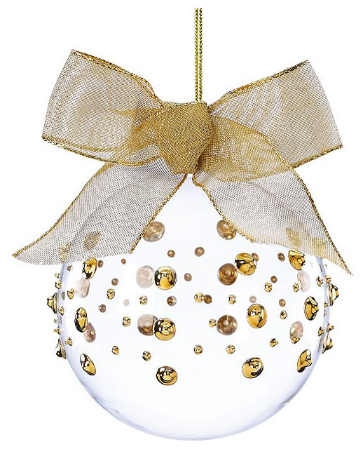 Lenox christmas ornaments gold wrap contemporary for 48 lighted crystal 3 d outdoor christmas wreath decoration