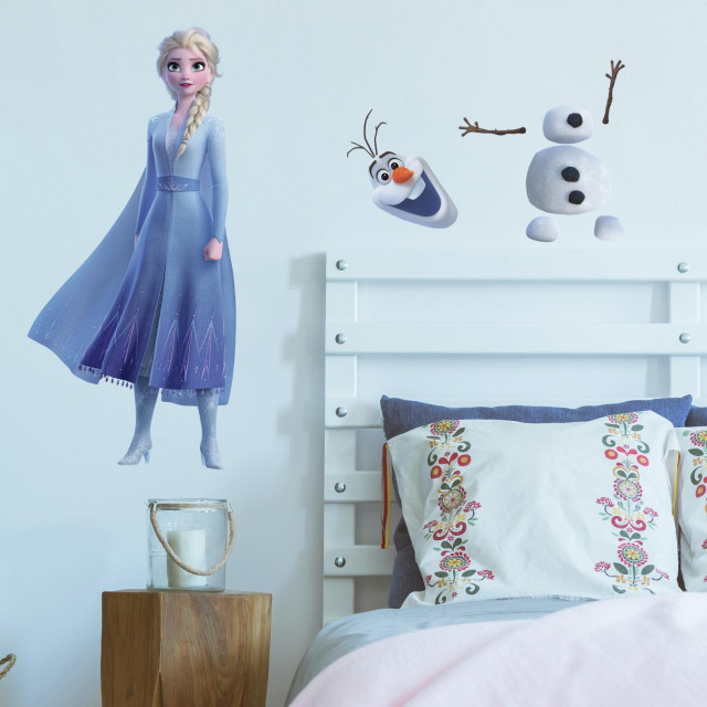 Frozen Ii Elsa And Olaf Peel And Stick Giant Wall Decals Traditional Kids Wall Decor By York Wallcoverings Inc