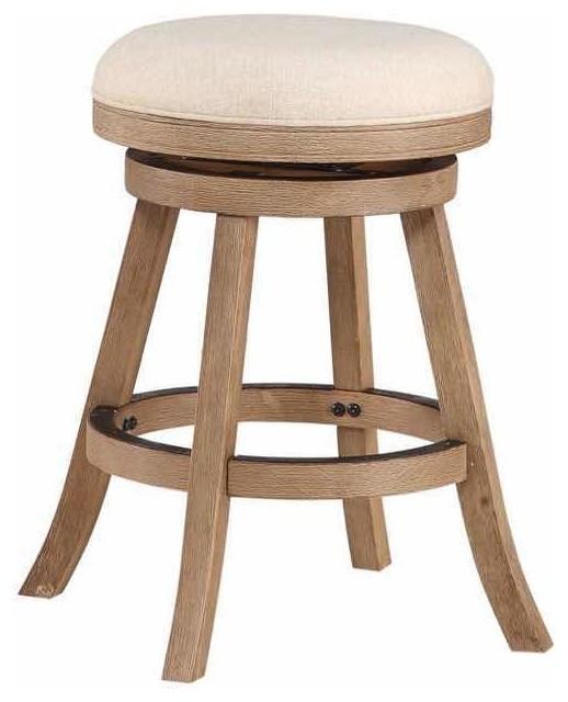 Magnificent Fenton Swivel Stool Driftwood Wire Brush Counter Height Creativecarmelina Interior Chair Design Creativecarmelinacom