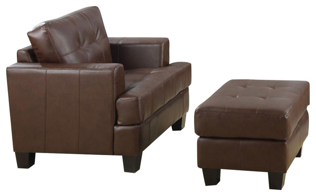 Fantastic Coaster Samuel Chair With Ottoman Cappuccino Ncnpc Chair Design For Home Ncnpcorg
