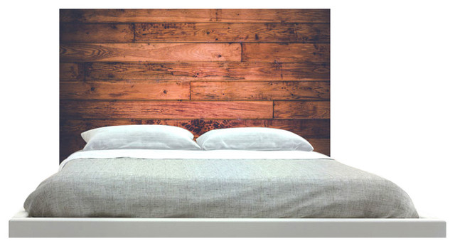 """wood"" Headboard, King, Square, Fabric."