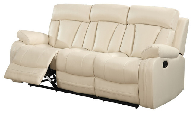 Superb Avery Beige Leather Sofa Contemporary Sofas