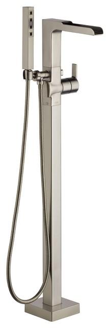 Delta Ara Floor Mount Tub Filler Faucet With Hand Shower