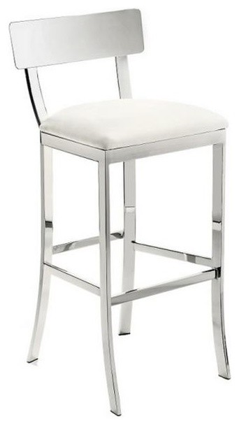 Chrome Finish Stool White Bar Height contemporary bar stools and