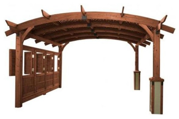 Outdoor Greatroom Company Sonoma 12-M Sonoma 12&x27;x12&x27; Arched Wood Pergola.