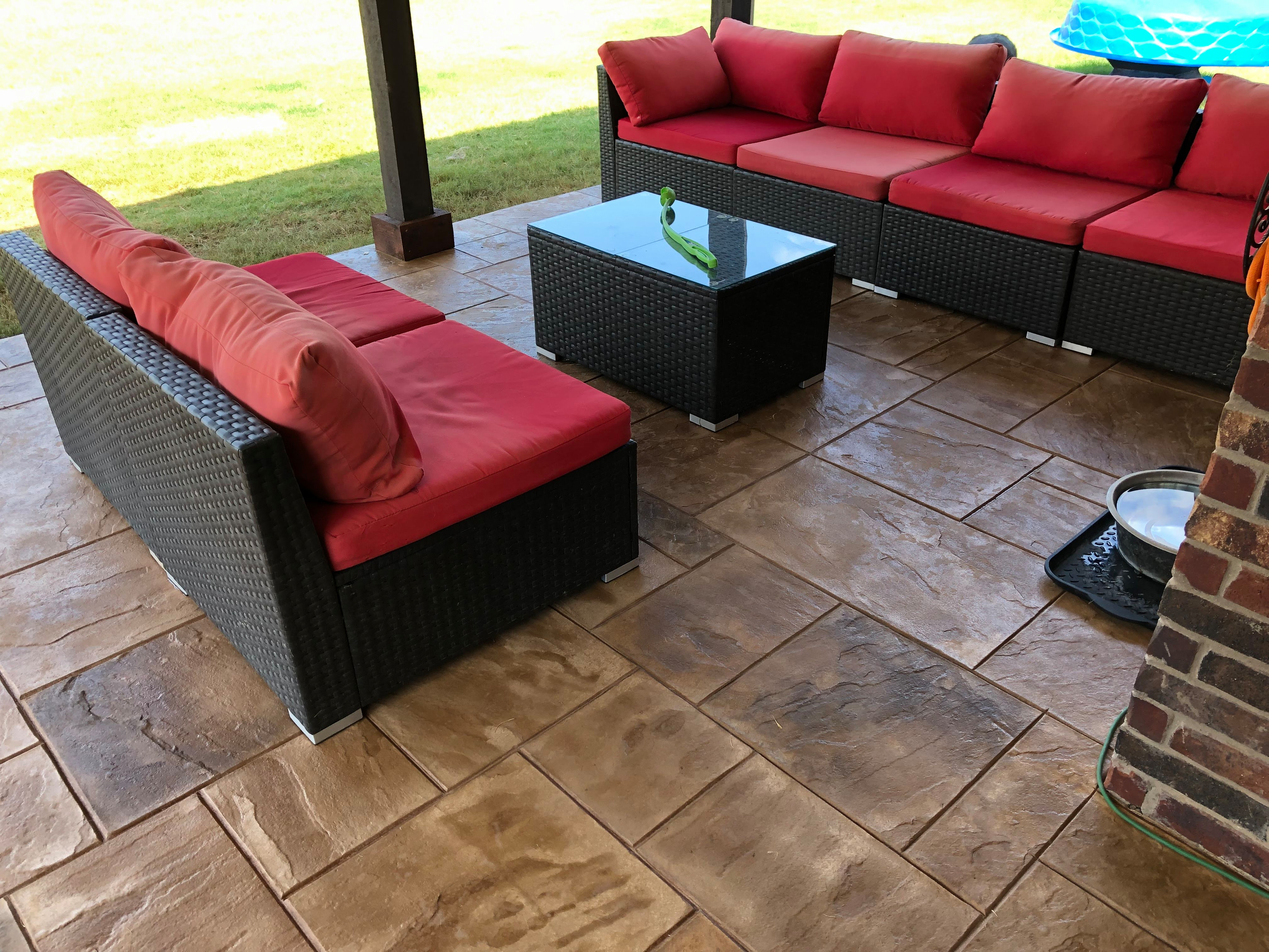 Custom stone grill station and patio remodeling