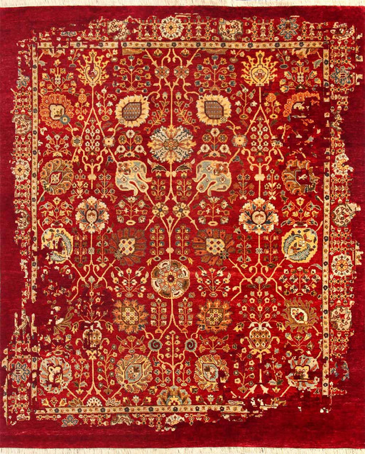Fusion md 903 red gold rug rectangle 4 39 x6 39 transitional for Red and gold area rugs