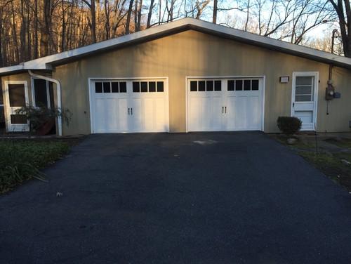 Lighting for garage door and side entry for Garage side entry door