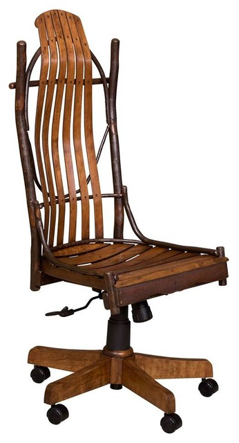 Armless Desk Chair In Cherry With