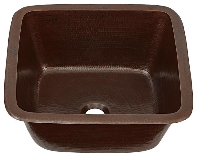 "Greco 15"" Dual Mount Handmade Copper Prep Sink"