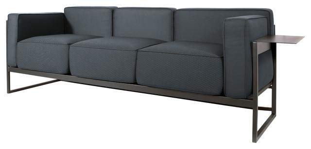 Kirk Contemporary Sofa, Anthracite