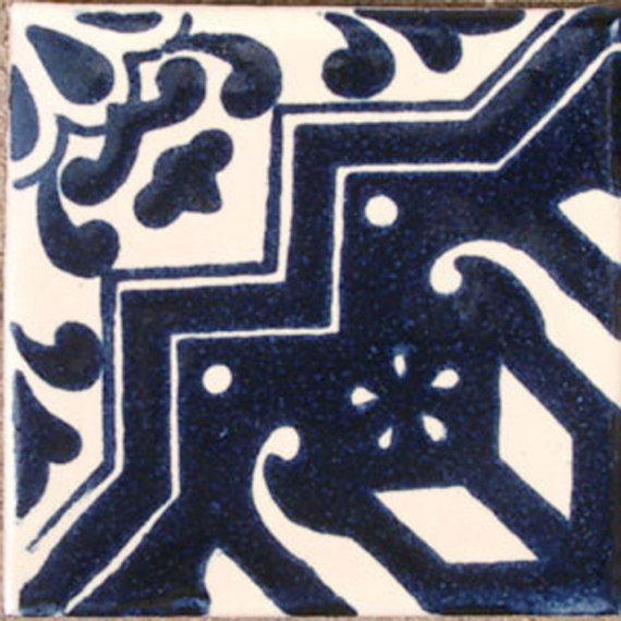"4""x4"" Mexican Ceramic Handmade Tile C072."