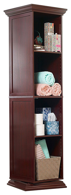 Mirrotek swivel storage cabinet with shelves and full for Full length mirror with shelf