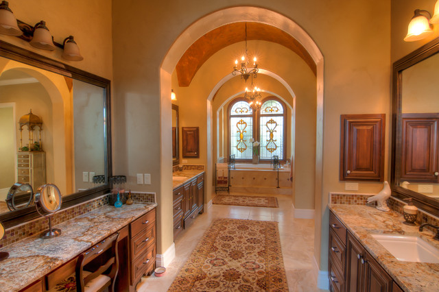 Elegant bathrooms in the texas hill country by stadler for Elegant mediterranean homes