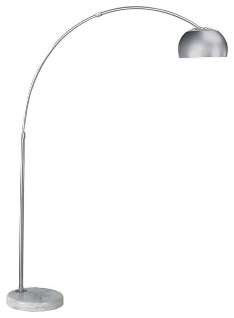 Arch Floor Lamp, Marble Round Base, White Contemporary Floor Lamps
