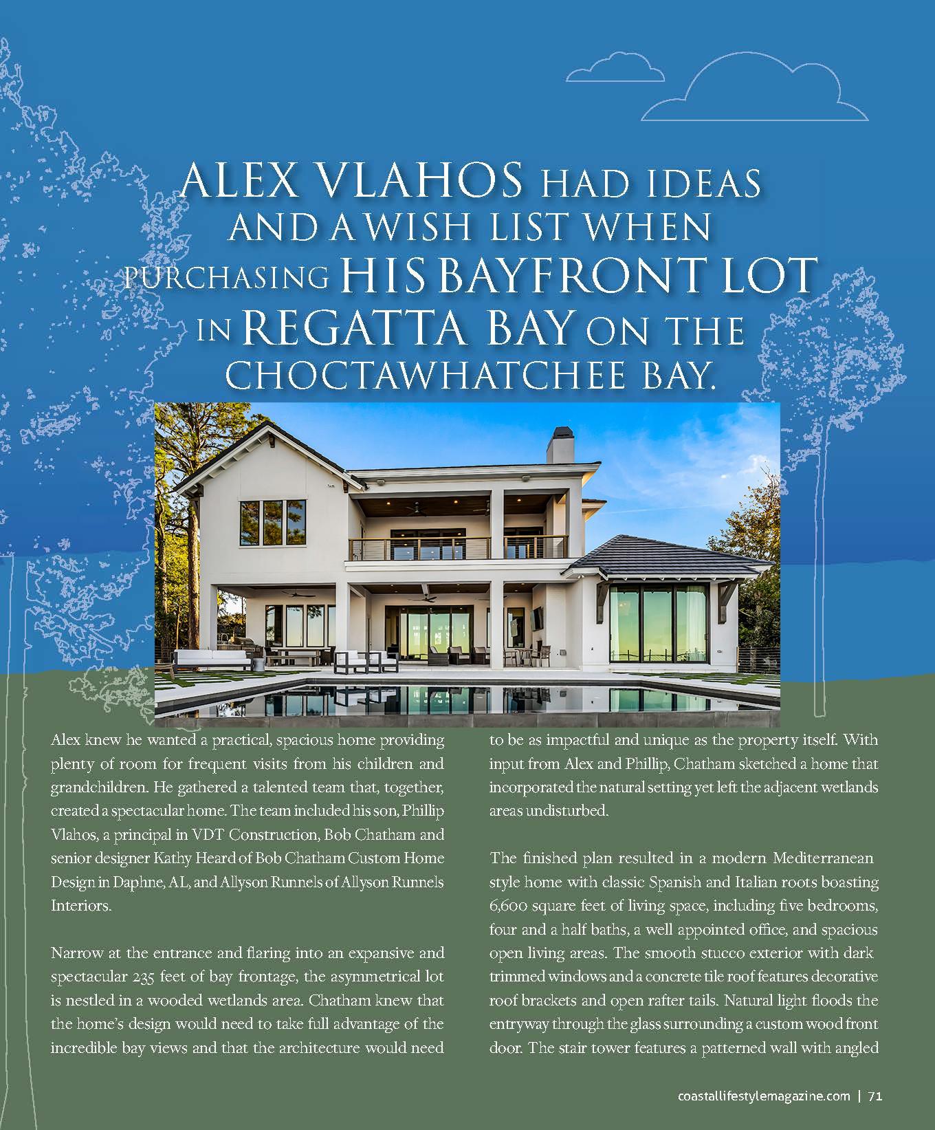 Coastal Lifestyle Magazine-  Bayside Luxury Villa