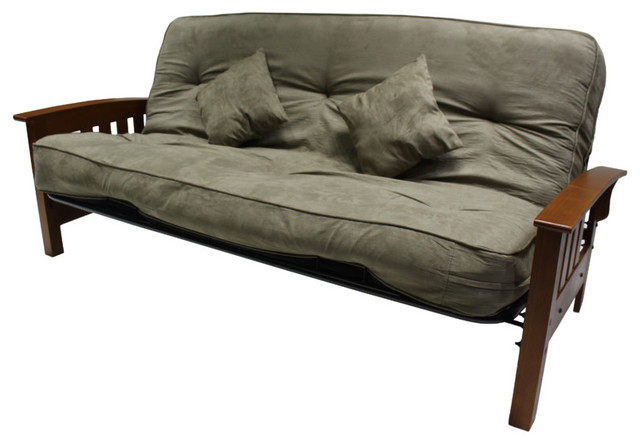 In 8 Pocket Coil Futon Mattress And Frame Herbal
