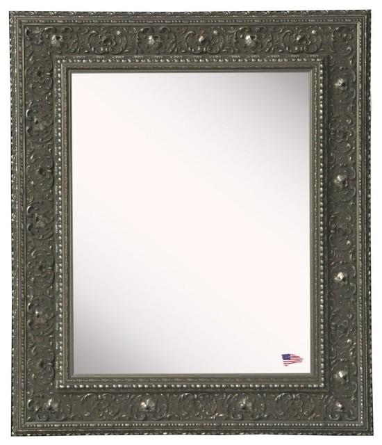 "American Made Rayne Opulent Silver Wall Mirror, 32""x1.5""x42""."