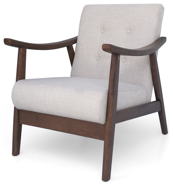 Peachy Gdf Studio Aurora Mid Century Modern Accent Chair Beige Brown Uwap Interior Chair Design Uwaporg