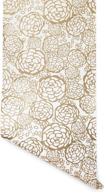 Petal Pusher Wallpaper, Gold