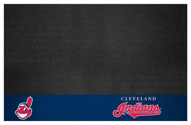 "Mlb Cleveland Indians Grill Mat 26""x42""."