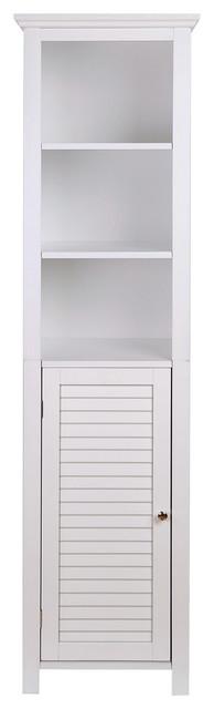 """65.55""""h Wooden Floor Storage Cabinet With 3-Shelf And 1 Shutter Door,."""
