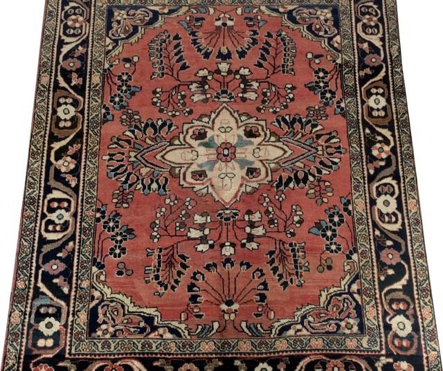 Consigned Traditional Rug 5 X7 Hamadan Handmade Wool