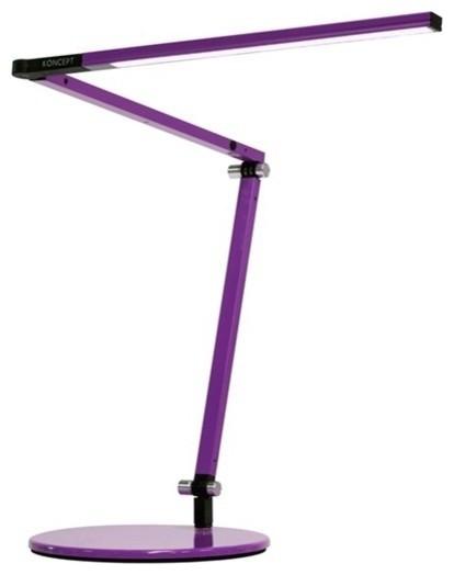 Z-Bar Mini Desk Lamp With Base, Warm Light, Purple