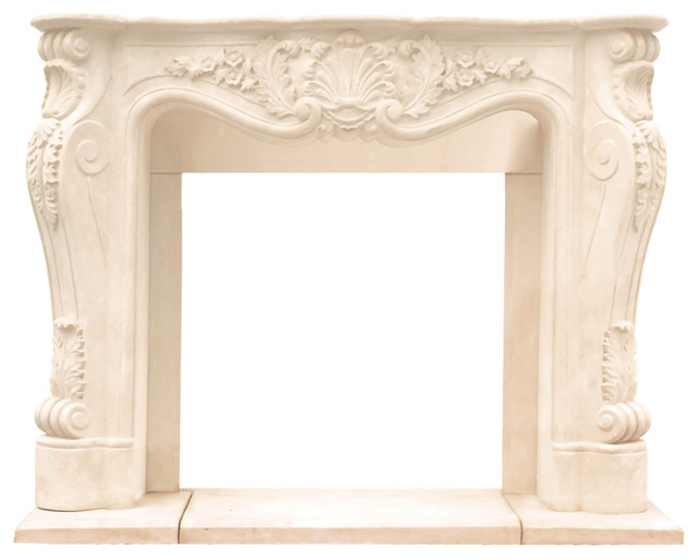 Historic Mantels Cl14002 Chateau Series Louisxiii Cast Stone Fireplace Mantel.