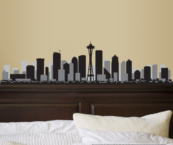 Seattle Washington Skyline Vinyl Wall Decal Or Car Sticker SSEY - Vinyl decals for the wall