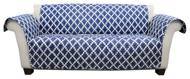 wellow ikat sofa furniture protector navy contemporary rh houzz com Ditte Sofa Velvet Ikat Pillow