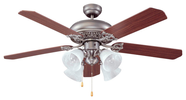 Manor 4 light indoor ceiling fan victorian ceiling fans by lighting new york - Victorian ceiling fans with lights ...