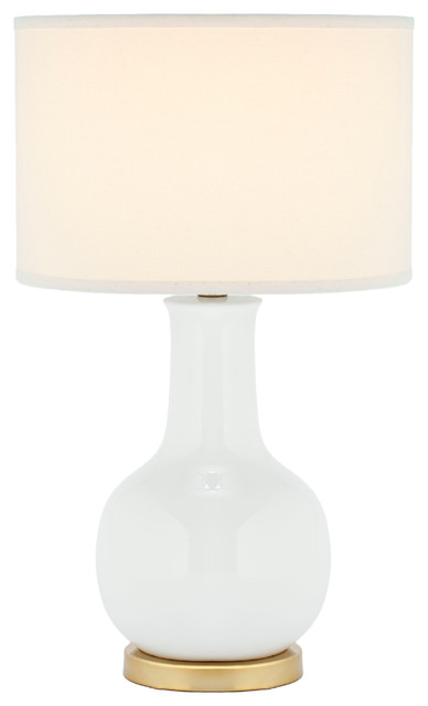 Safavieh White Ceramic Paris Lamp, White.