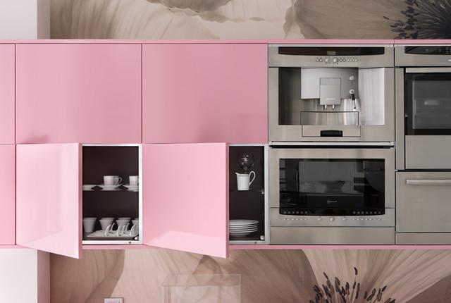 White And Pink Kitchen Modern