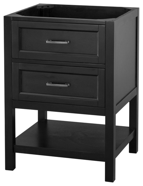 Beau Brook Bathroom Vanity Cabinet, Black