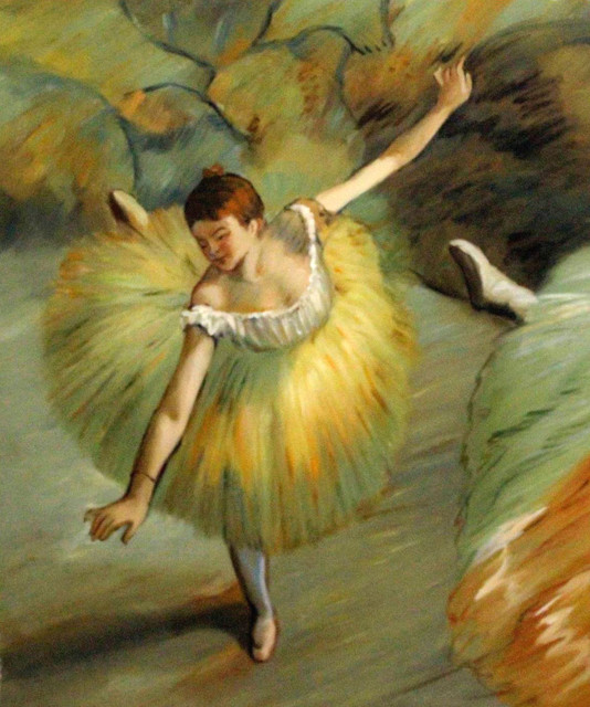 Degas Dancer Tilting Traditional Paintings By