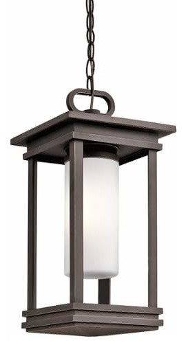 Kichler Lighting 49493rz South Hope Rubbed Bronze Outdoor Hanging Lantern.