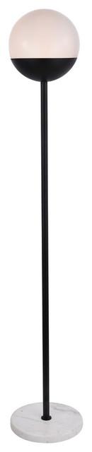 Elegant Eclipse 1-Light Black Floor Lamp