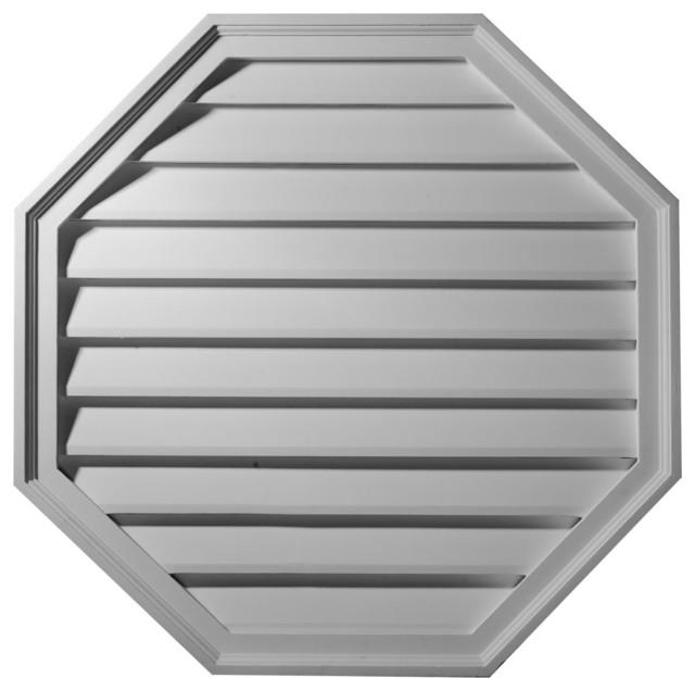 """Octagon Gable Vent Louver, Decorative, 18""""w X 18""""h X 2 1/2""""p."""