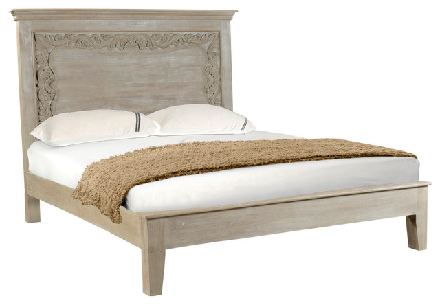 Alexandra Carved Panel Bed, Easter King.