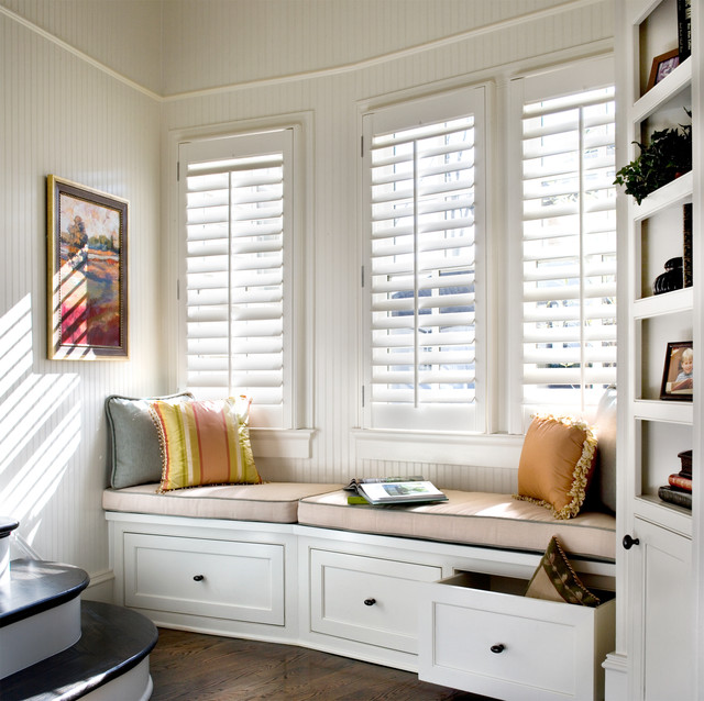 Plantation Shutters Traditional Staircase Atlanta