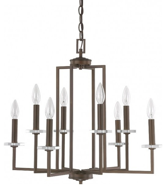 Capital lighting morgan 8 light chandelier contemporary capital lighting morgan 8 light chandelier burnished bronze small contemporary chandeliers aloadofball Image collections