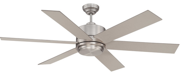 Savoy House Velocity Ceiling Fan, Satin Nickel.